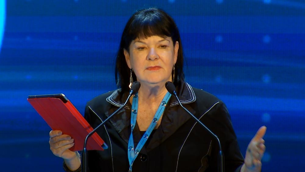 Intervento di Sharan Burrow